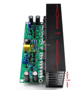 Image 2 - لوحة مكبر للصوت L15 مجموعة لوحة مكبر للصوت 2 قناة أمبير + 2 قطعة المبرد (IRFP240 IRFP9240)