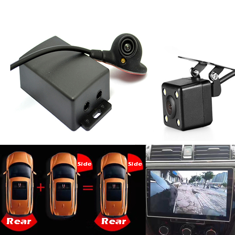 Two Video Automatic Switch Control box Car Right left blind system Auto Car rear view camera Parking Two Video Automatic Switch Control box Car Right left blind system Auto Car rear view camera Parking