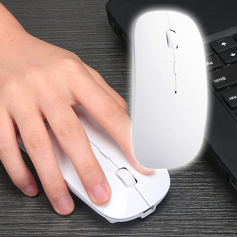 Rechargeable Bluetooth Mouse Ultra Thin Wireless Mouse White Newest Vesion Power Revolution QJY99