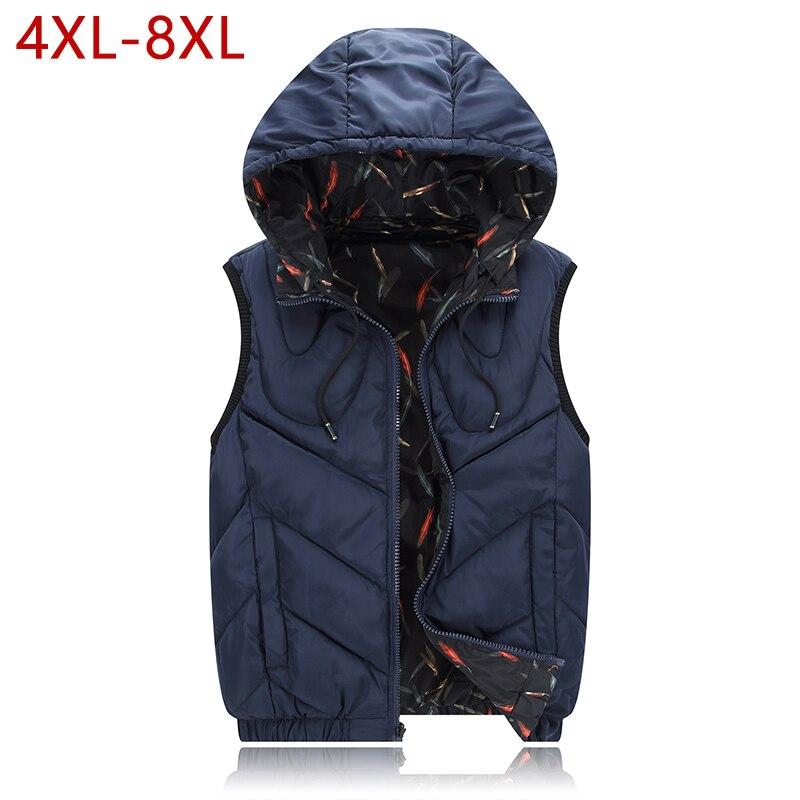 138f17c21c0 Plus Size 4XL-8XL Cotton Thick Vest Winter Autumn Male Casual Warm Parka  Varsity Padded