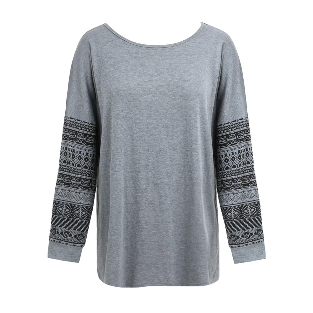 Women's Ethnic Print Long Sleeve T-Shirt 3