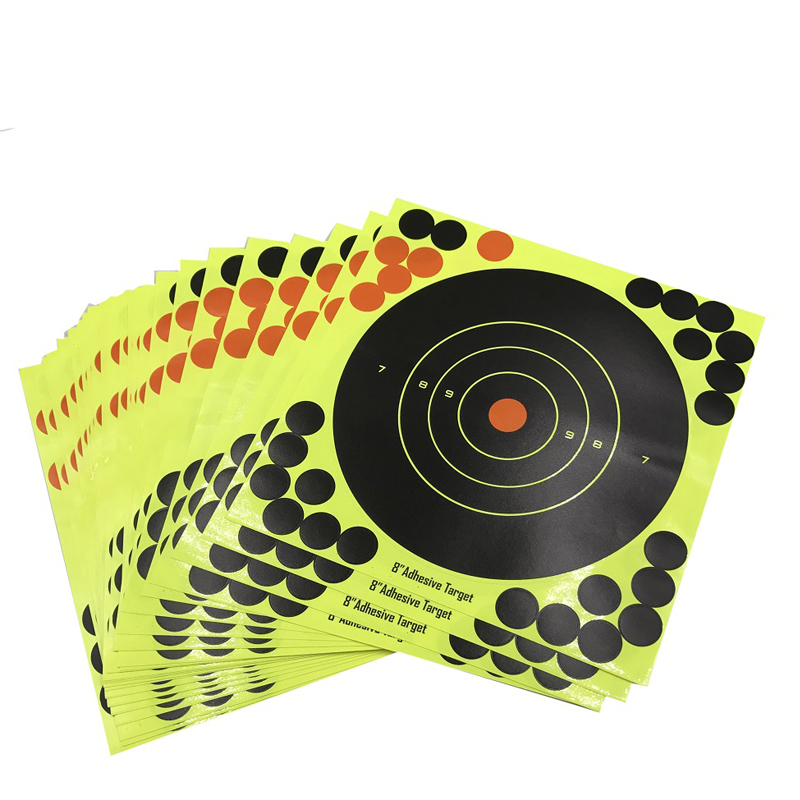 10pc tactical hunting and shooting target stickers aiming for hunting slingshot goal 8 adhesive ultimate shooting solution
