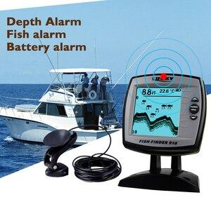 Проводной рыболокатор FF918-180S датчик рыболокатор 45 градусов эхо ЖК локатор для рыб лодка рыболокатор детектор рыбы