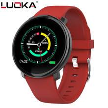 Luoka relógio inteligente m31 tela cheia toque ip67 à prova dip67 água múltipla modo de esportes diy bluetooth smartwatch face suporte ios android