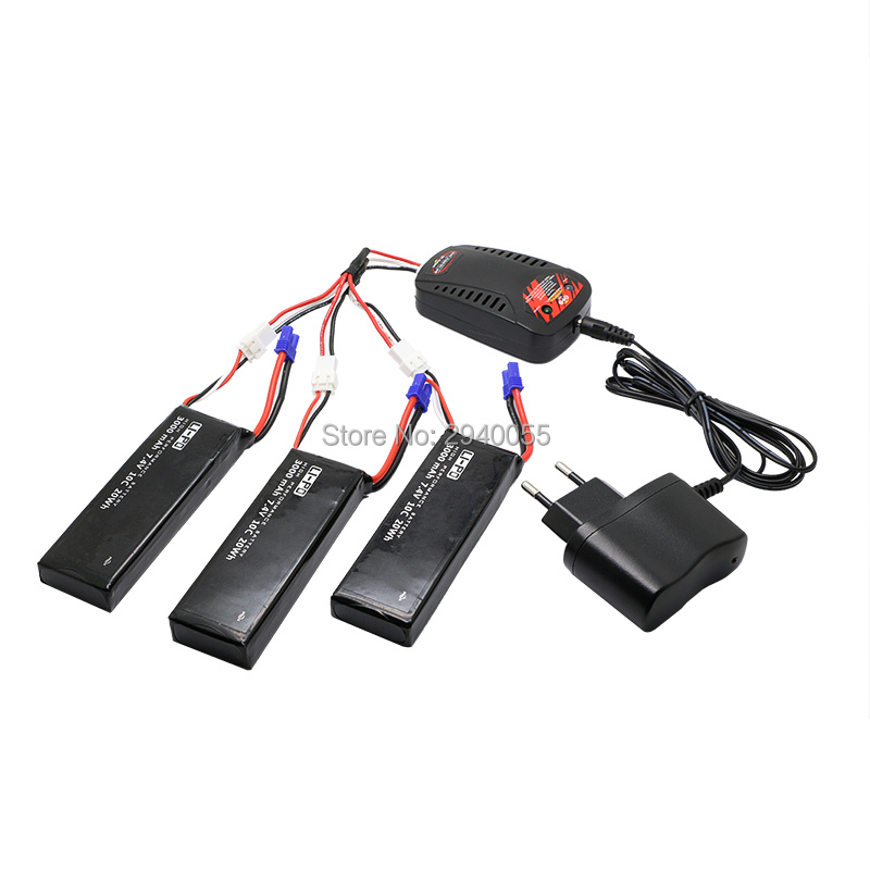 3pcs 7.4V 3000mAh 10C Hubsan H501S lipo battery  Batteies  with cable for charger Hubsan H501C rc Quadcopter Airplane drone Spar 4pcs 7 4v 2700mah 10c hubsan h501s lipo battery batteies with cable for charger hubsan h501c rc quadcopter airplane drone spar