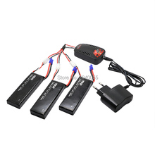 3pcs 7.4V 3000mAh 10C Hubsan H501S lipo battery Batteies with cable for charger Hubsan H501C rc Quadcopter Airplane drone Spar