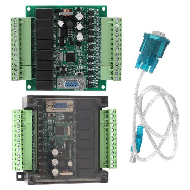 Controllore Logico Programmabile Industriale Programmabile Scheda di Controllo Plc FX1N 20MR per Il Controllo Automatico Dc 22 V 28 V