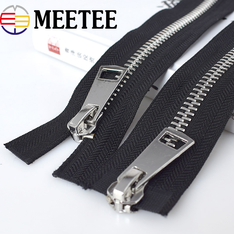 Cremallera Metal 8# Double Slider Metal Zippers Eco-friendly Open-End  Zipper For Sewing Down Coat Garments Accessories