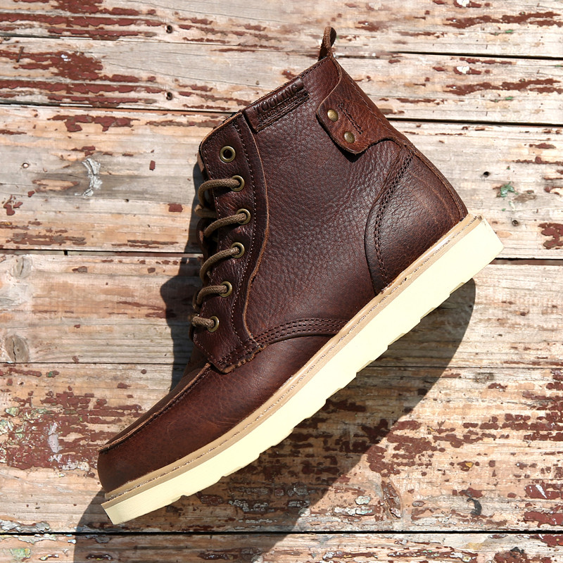 Golden Sapling Mens Tactical Boots Outdoor Mens Sneakers Breathable Genuine Leather Waterproof Hiking Shoes Men Trekking Boots