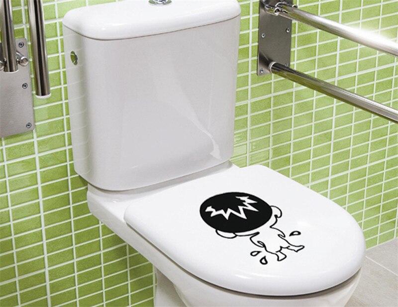 Genieten grappig creatieve patroon effen zwart badkamer wc wastafel