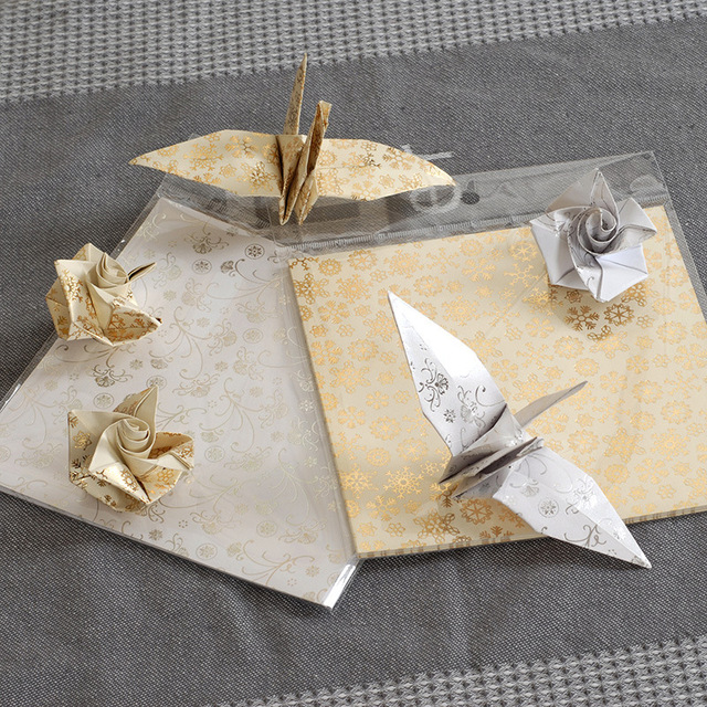 "6""x6"" Gilding origami paper folding materials for crafts toy art and craft for children kids craft"
