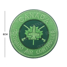 3D Canada flag Embroidery Patch Military Morale Tactical Emblem Badges Appliques Combat Hook & Loop Embroidered Patches