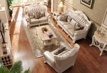 Modern Leather Sofa Set Living Room Furniture Beautiful Wood