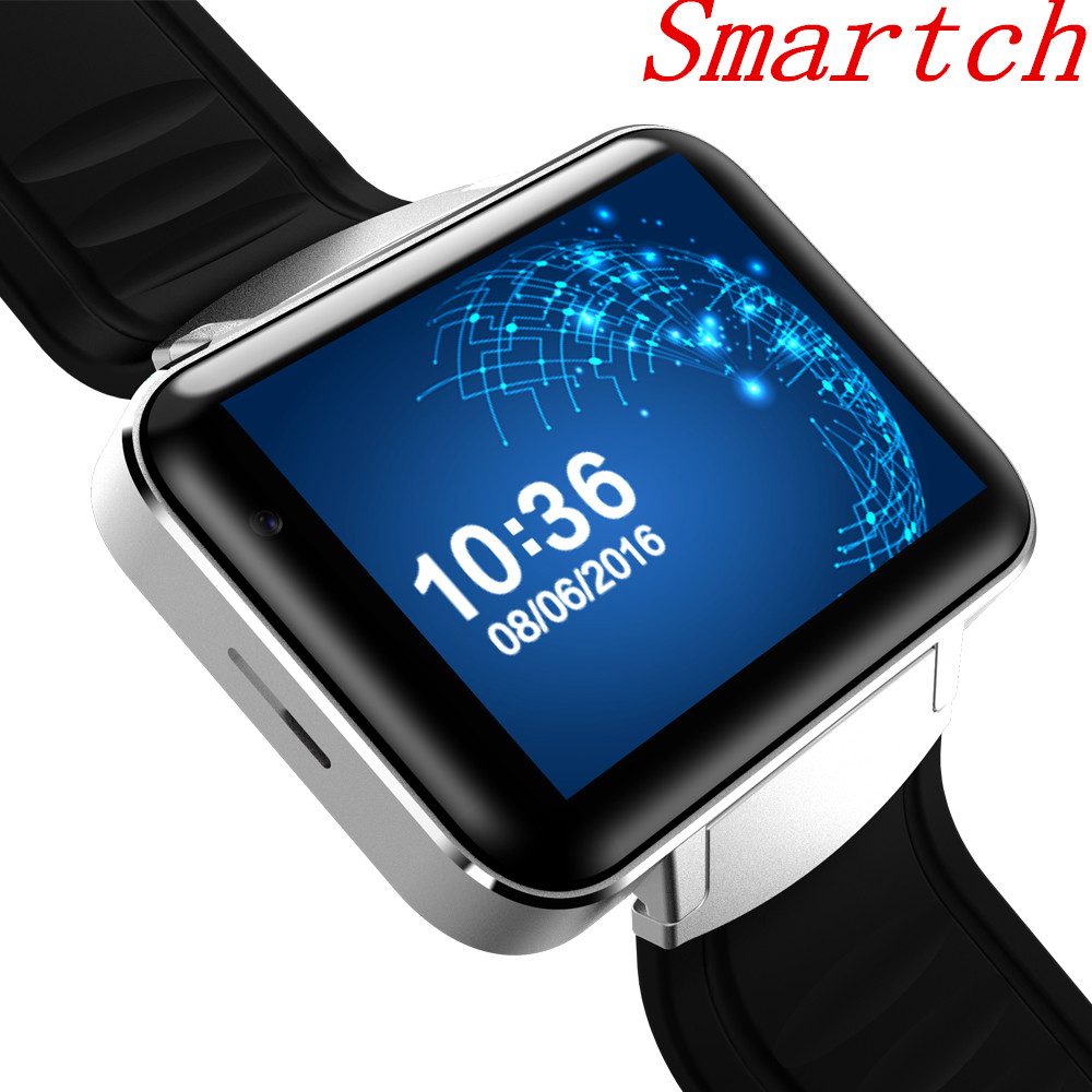 Smartch DM98 Bluetooth Smart Watch 2.2 inch Android OS 3G Smartwatch Phone MTK6572 Dual Core 1.2GHz 512MB RAM 4GB ROM Camera WCD zgpax s5 watch smart phone dual core 1 54 inch capacitive touch screen android 4 0 512mb ram 4g rom 2mp camera with gps silver black
