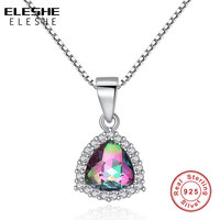 NEW Long Austrian Crystal Blue Water Drop Necklaces Pendants 925 Sterling Silver Maxi Necklaces For Women