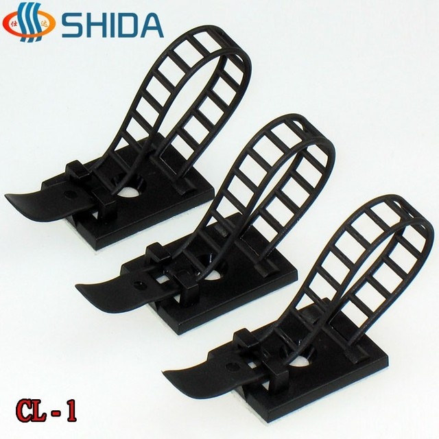 100 PCS CL 1 White and Black 3M Adhesive Plastic Cable Clips ...