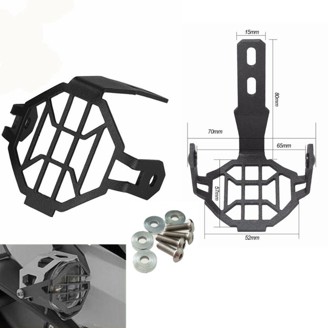 Motorcycle Auxiliary Fog Lights Cover Accessories For BMW R1200GS ADV F800GS K1600 F700GS LED Fog Lamp Black Guards Cover