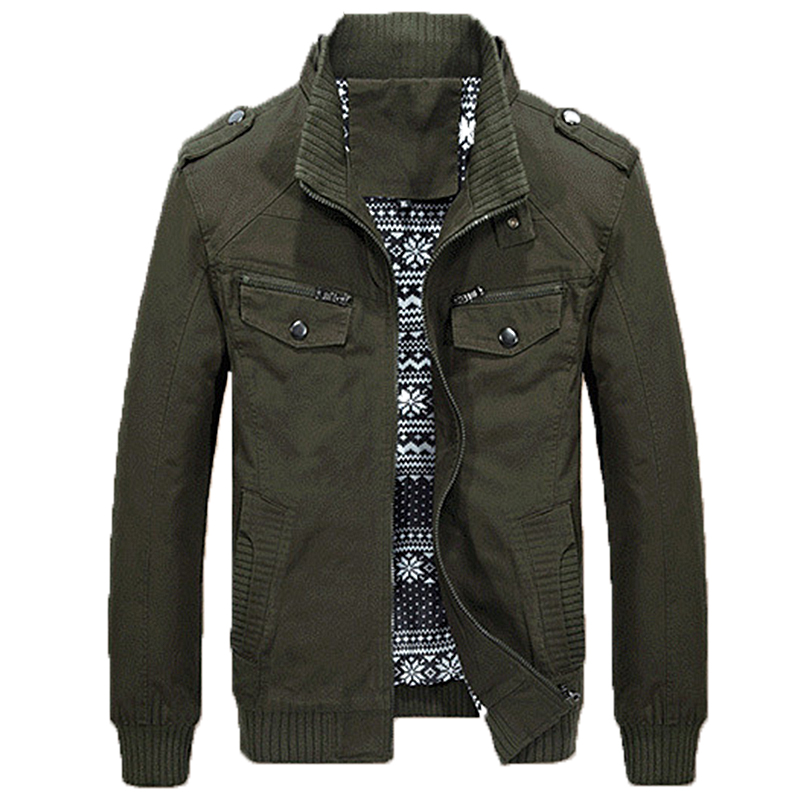 2018 Autumn spring new pure cotton jackets men washed casual slim parka men baseball uniform thick slim fashion jacket men