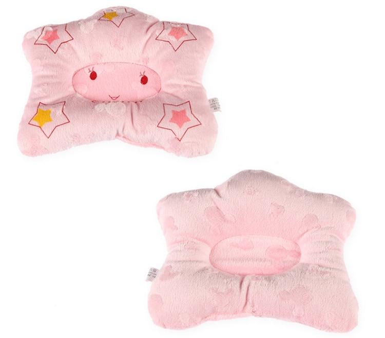 Купить с кэшбэком Cartoon Star Shape Newborn infant memory foam pillow neck protection baby care bedding set concave massage sleeping pillow