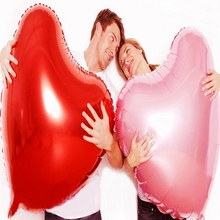 Big Romantic Heart shap foil Balloons Wedding love decoration child Birthday party Marriage Valentine Gift Inflatable toy balls