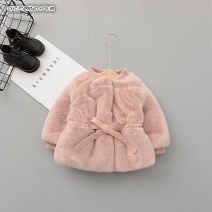Image 1 - Chaqueta y abrigo de invierno para bebés y niñas ropa de invierno de piel sintética, abrigo cálido para bebés, ropa de abrigo para bebés
