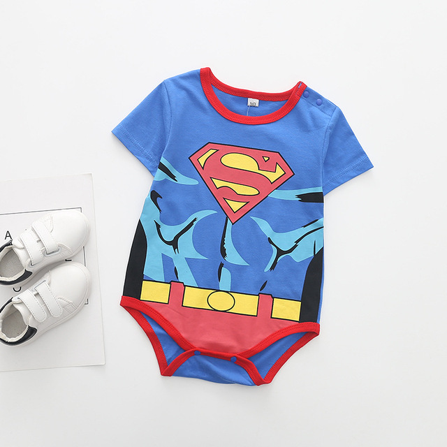 Superman Summer Baby Rompers Newborn Baby Boy Girl Romper Short sleeve Jumpsuit Clothes Baby Clothes Cotton Outfits 0-18M 3