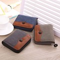 Denim Zipper Men Wallet Change Purse Money Bag Card Holder Boy Child Kids Student Wallet Clutch Coin Purse Hand Bag 3 Folds
