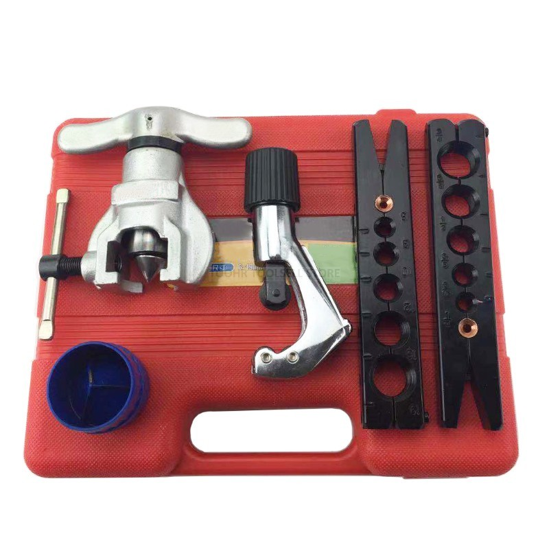 6-19mm 1/4-3/4 Inch Metric And Inch Tube Expander Set Air Conditioner Copper Pipe Pipe Reamer Tube Flaring Tool