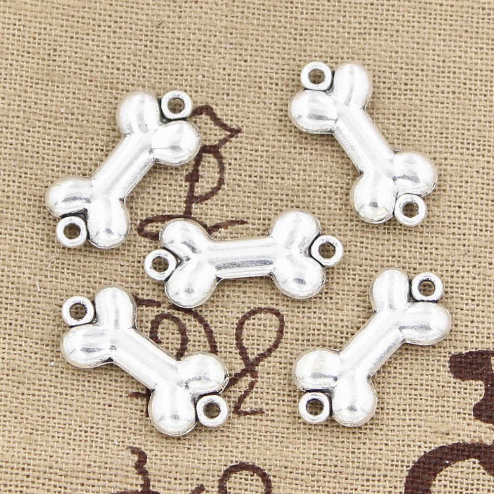 8pcs Charms กระดูกสุนัขเชื่อมต่อ 22x10 มม.โบราณทิเบต Bronze จี้เครื่องประดับ DIY VINTAGE Choker เครื่องประดับ
