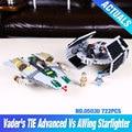 722Pcs LEPIN 05030 Star Wars Vader Tie Advanced VS A-wing Starfighter 75150 Building Blocks Compatible STAR WARS Brithday Gifts