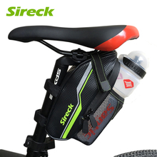 Sireck MTB Bike Bag Waterproof Rear Seat Seatpost Storage Bicycle Bag Cycling Saddle Bag Packing Bike Accessories Black Green