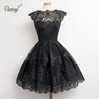 2017 wedding party sleeveless black white bubble women dress tutu ball gown knee length eyelash lace party dresses free shipping