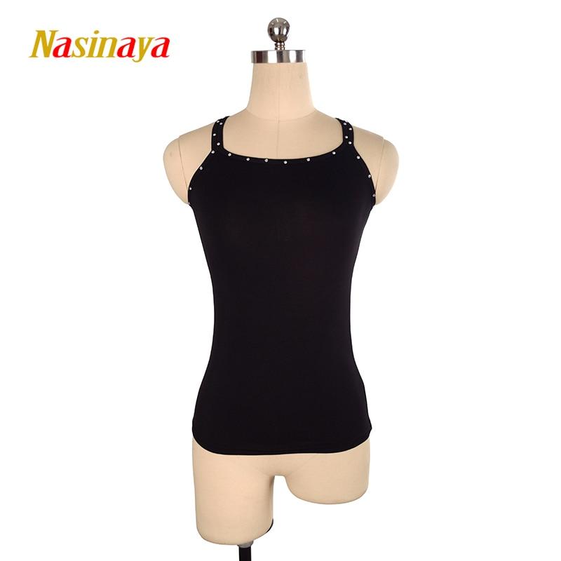 Personnalisé Figure De Patinage Gilet Underwaist t-shirt Tops pour Fille Femmes Formation Glace De Patinage Patinaje Gymnastique aucune douille 3