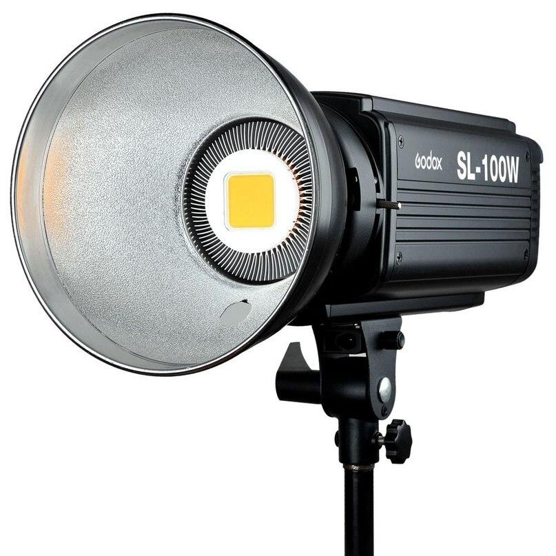 Godox SL100W 5600K AC 100~240V 50/60Hz 16 Channels Studio Continuous LED Video Light Lamp Bowens Mount top quality godox led1000c 3300k 5600k led video continuous light lamp panel lux 4400