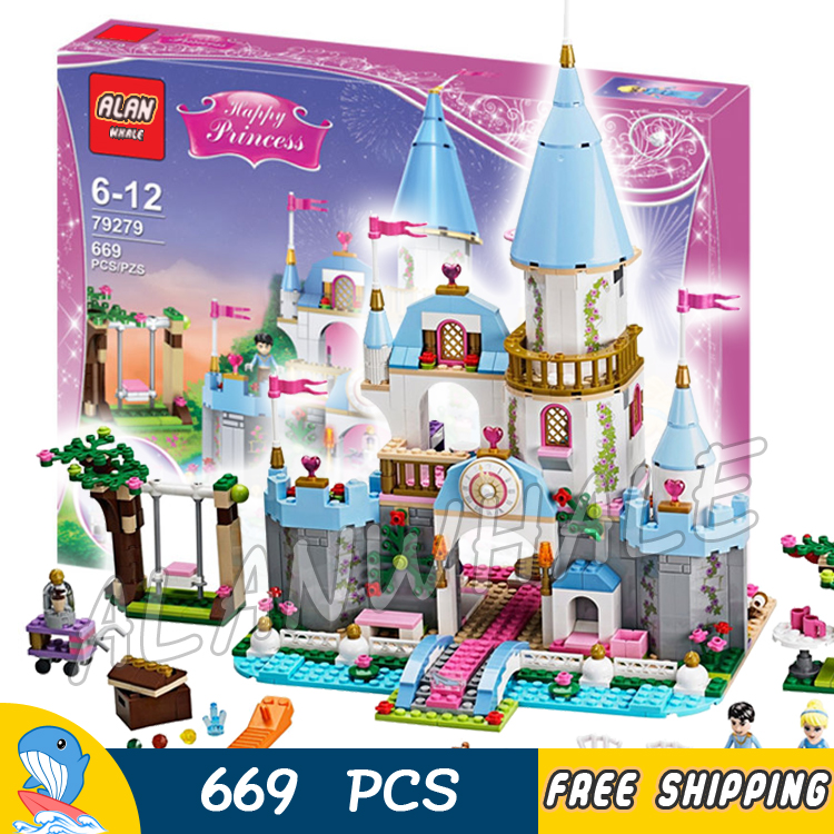 669pcs Cinderella Romantic Castle Princess Friend 25006 Model Building Kit Blocks Bricks Sets Children Toys Compatible With Lego lepin 16008 cinderella princess castle city model educational building block kid toys compatible legom 71040 for children gift