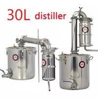 30L большая емкость из нержавеющей стали вино пивоварения машина дистилляции вина оборудования алкоголь водка ликер дистиллятор горшок/кот