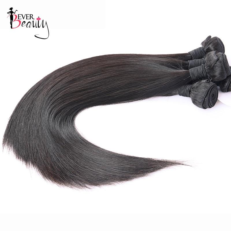 Peruvian Straight Hair Extension 100% Human Hair Weave Bundles 3Pcs/Lot Natural Black Color Ever Beauty Remy