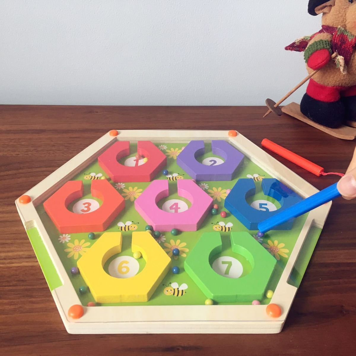 Wooden Maze Montessori Toys For Children Boys girls early educational math toy party game with family
