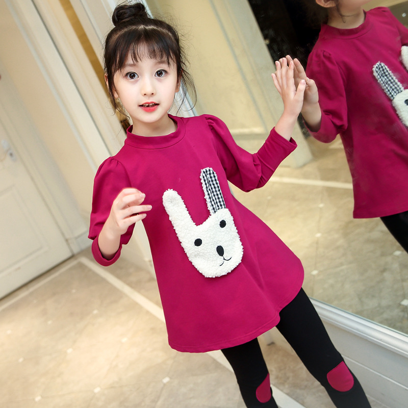 Children 39 s clothing spring and autumn set 2019 New Kids cartoon long sleeved shirt pants 3 12 years old baby girl clothes in Clothing Sets from Mother amp Kids