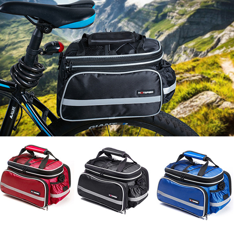 HOTSPEED Convertible Bicycle Luggage Bag Road Mountain Bike Rear Seat Rack Cargo Carrier Container Bag 2017 bicycle camera bag bike front tube bag bicycle accessories black road mountain large capacity cycle bike backpack bike bag