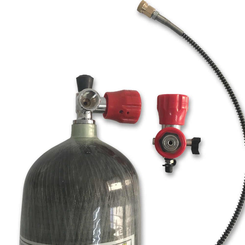 AC168101 nuevo 6.8L 300Bar 4500PSI tanques de aire de alta presión cilindro de Gas de buceo PCP Condor y válvula y estación de llenado Envío Directo