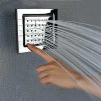 Pełna miedzi główne silikonowe dysza kran zraszacz zraszacz plac talia spray ukryty prysznic akcesoria SPA masaż TL072