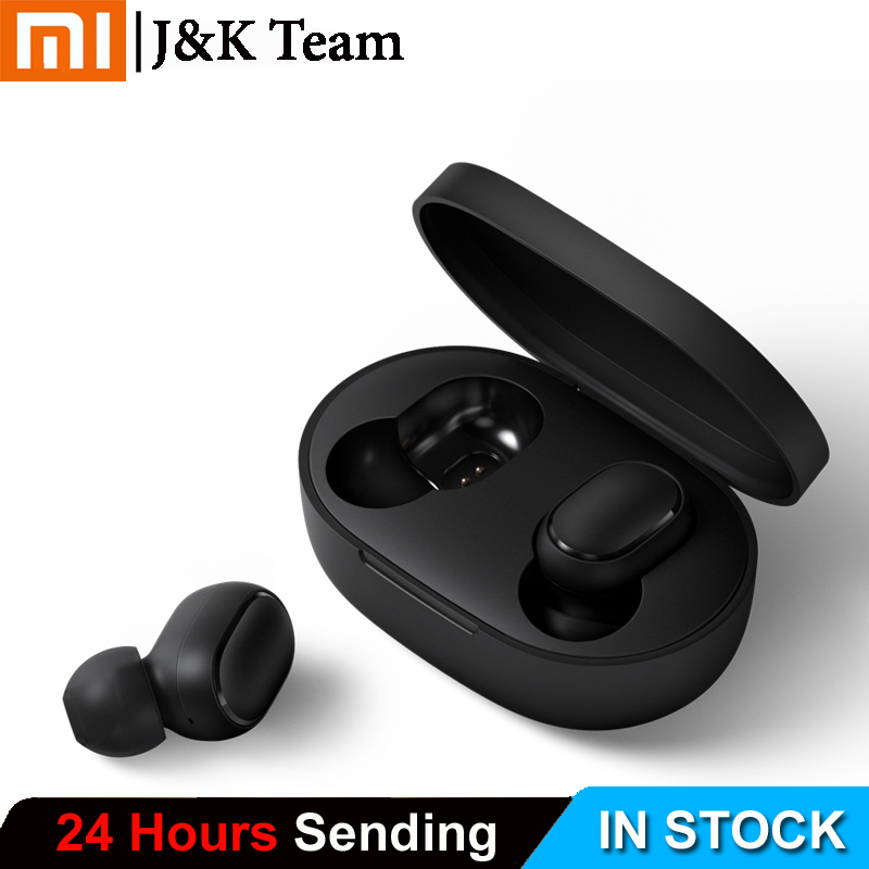 Instock Xiaomi Redmi Airdots Xiaomi Wireless earphone Voice control Bluetooth 5 0 Noise reduction Tap Control