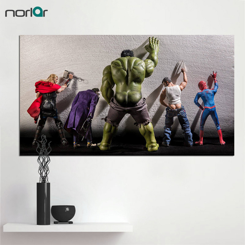 HD Printed Superheroes In Humorous and Human-like Scenarios Canvas Painting Print Art Picture Home Wall Decor Unframed