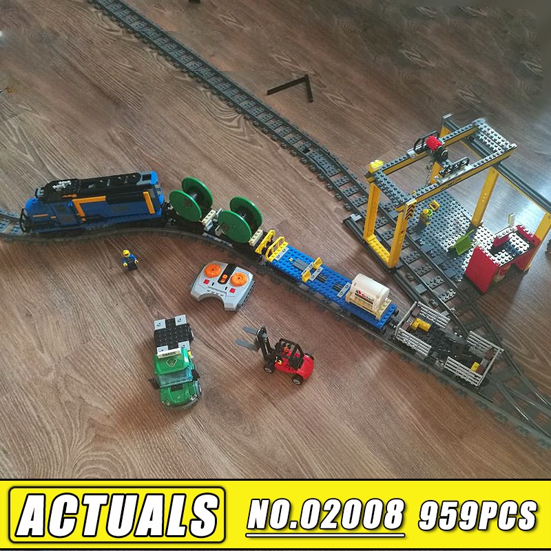 Bei Fen 959PCS Lepin City 02008 the Cargo Train Set 60052 Remote Control Train Model & Building Blocks Bricks Children Toys Gift lepin 02008 the cargo train 959pcs city series legoingly 60052 plate sets building nano blocks bricks toys for boy gift