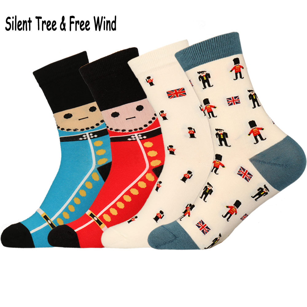 Brand Funny Novelty Women Men Soldier Crew Socks Cool Cute