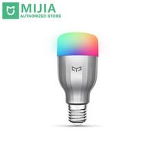 Orijinal xiaomi yeelight rgb led akıllı ampul (renk) e27 9 w 600 lümen mi ışık akıllı telefonu wifi uzaktan kumanda