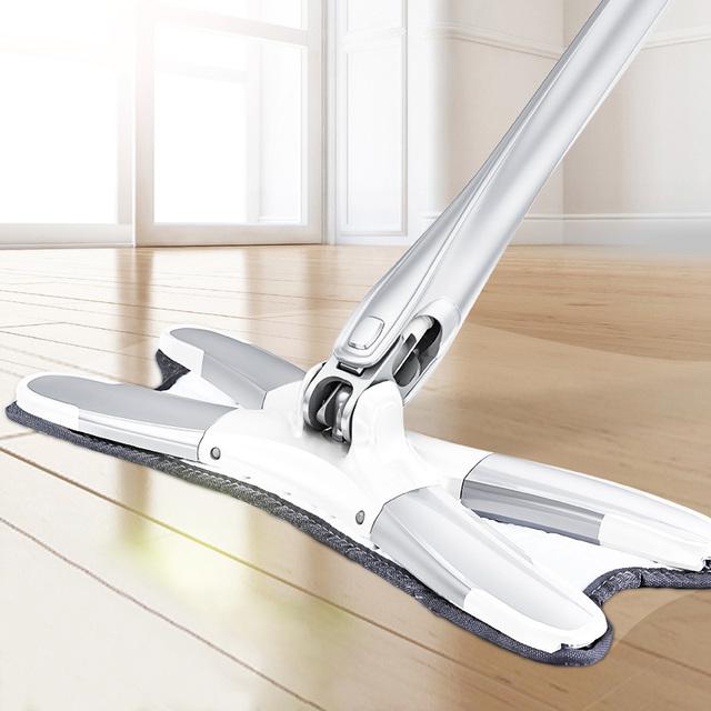 Microfiber floor mop with 3pcs mop cloth