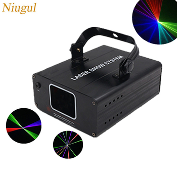 RGB Laser Light Linear Scanner Stage Lighting Effect Projector Light DJ Dance Bar Xmas Party Disco Show Lights/Multi Color Laser