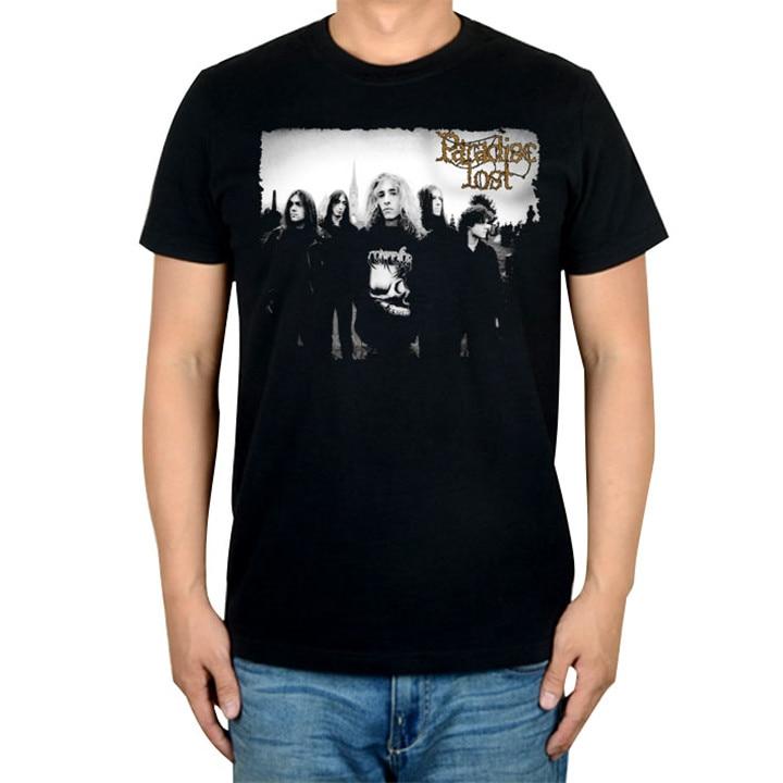 14 видов иллюстрации Райский Lost Rock брендовая футболка панк готический Металл черные рубашки уличная Harajuku искусство картины camiseta